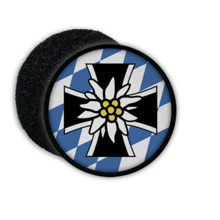 img-Patch Hook Loop Bavarian Soldier Mountain Infantry Blue White Edelweiss #22622