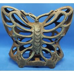 Kyпить Large Vintage Butterfly Moth Cast Iron Garden Insect Lantern / Candle Holder  на еВаy.соm