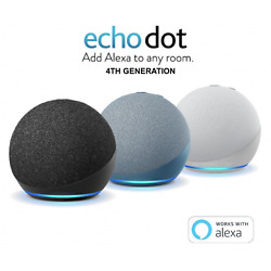 Kyпить NEW! Amazon Echo Dot 4th Generation - Charcoal | Glacier White | Twilight Blue на еВаy.соm