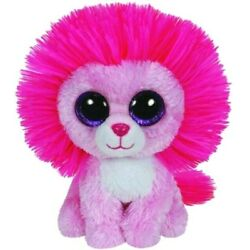 Kyпить New! (no tag) Ty Beanie Boos Fluffy Pink Lion Cat 6