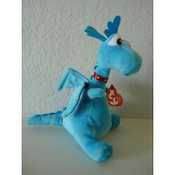 Kyпить Ty Beanie Babies STUFFY Blue Dragon Plush 6