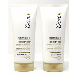 Dove Derma Spa Goodness 3 with Omega Oil Body Lotion for Dry Skin 6.76 Oz (2PK)