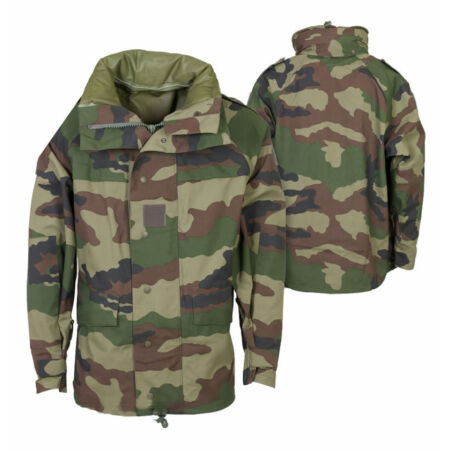img-FRENCH ARMY MVP BREATHABLE JACKET GORETEX WATERPROOF LAMINATE PARKA CCE CAMO