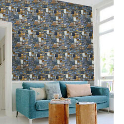 Wall Sticker Modern Brick Stone Removable PVC Living Room Decals Wallpaper
