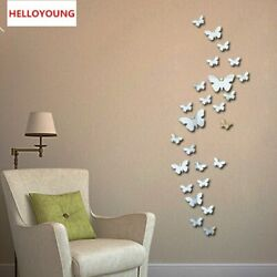 Wall Stikers Vinyl 3D Butterfly Wall Decor Poster Vintage Wallpaper Mirror