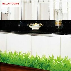Wall Stickers Home Decorative Fresh Color Green Grass Plant Waterproof