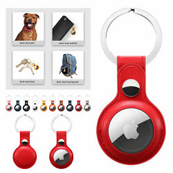 Kyпить For Apple AirTag Leather Case Cover AirTags Tracker Keychain Sleeve Shell Skin на еВаy.соm