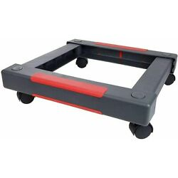 Staples Collapsible Dolly 19.5'' x 19.5'' x 5.25'' Black and Red 200lb Weight Furni