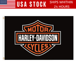 Kyпить Harley Davidson Bar And Shield Flag Banner 3 X 5 With Grommets FREE SHIPPING на еВаy.соm