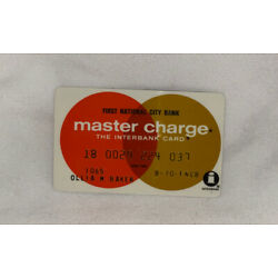 Kyпить Vintage 1970 Master Charge Card First National City Bank NYC на еВаy.соm