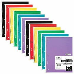 Kyпить Mead Spiral Notebooks, 1 Subject, College Ruled, 70 Sheets, 12 Pack (73703) на еВаy.соm