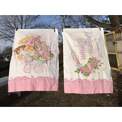 Kyпить 2 DISNEY Dream A Princess Dream PRINCESSES  Reversible Standard  Pillowcase Lot на еВаy.соm