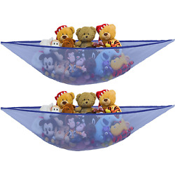 Kyпить 2 Pk - Simplehouseware Stuffed Animals Jumbo Toy Storage Hammock, Dark Blue на еВаy.соm