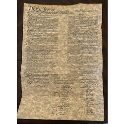 Constitution of The United States - parchment replica