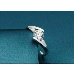 Kyпить Engagement & Wedding Bypass Fancy Ring 14K White Gold 0.53 Ct Round Cut Diamond  на еВаy.соm