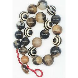 Kyпить Excellent Ancient Pyu dynasty and Solomany Himalayan agate bead necklace #A716 на еВаy.соm