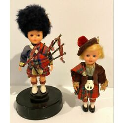 Kyпить Vintage Thoren of Switzerland Scottish Boy Piper Doll Music Box & Girl Doll на еВаy.соm