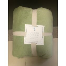 Kyпить Pottery Barn Kids Chamois Fitted Sheet - Green - Full - NWT на еВаy.соm
