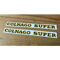 NOS Colnago Super Chainstay Decal Pair ,Black, Original Not Repro, 1980s