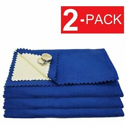 2-Pack Jewelry Cleaning Polishing Cloth Instant Shine Protects Gold Silver Brass