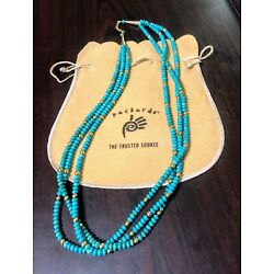 Kyпить Lawrence Baca ~ Fine Necklace ~ 3 Strands of Turquoise Rondells with 18K Gold на еВаy.соm