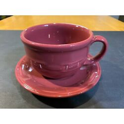 Kyпить NEW LONGABERGER Woven Traditions Cappuccino Cup with Saucer PAPRIKA 3176640  на еВаy.соm