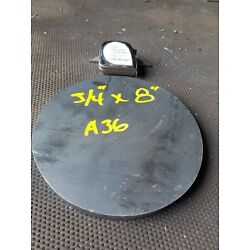 Steel Plate Round Disc,  8'' diameter x 3/4'' thick, A36,   Lathe Stock