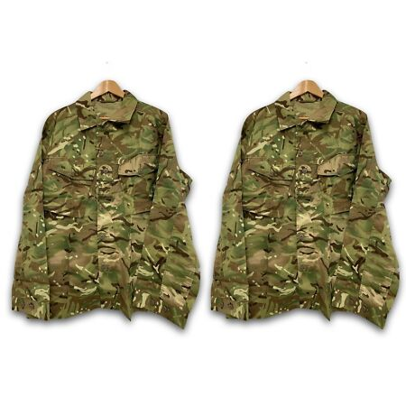 img-PACK OF 2 MTP CAMO TROPICAL COMBAT BUTTON UP JACKET SHIRT - Sizes , Army NEW