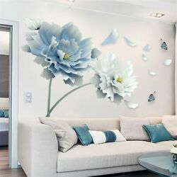 Removable Flower Lotus Butterfly  Wall Stickers 3D Wall Art Decals Home Decor US