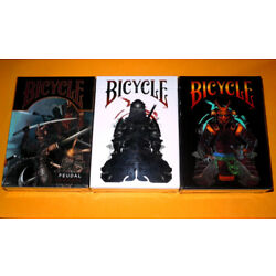 Bicycle Feudal Ninja 3 Decks by Crooked Kings Playing Cards New VERY RARE