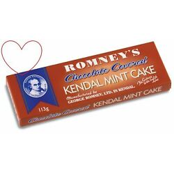 Romneys 113g Chocolate Covered Kendal Mint Cake Bar