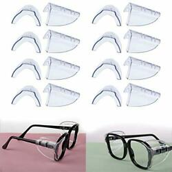Hub s Gadget 8 Pairs Safety Eye Glasses Side Shields, Slip On Clear Side