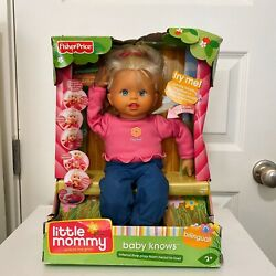 Fisher Price Little Mommy Baby Knows Baby Doll Bilingual 16