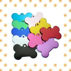 CUSTOM ENGRAVED PET TAG PERSONALIZED ID DOG CAT NAME TAGS ENGRAVE DOUBLE SIDES