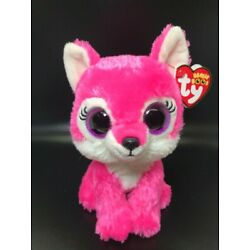 New! Rare Ty Beanie Boos Sierra Pink Wolf - Great Wolf Lodge Exclusive 6