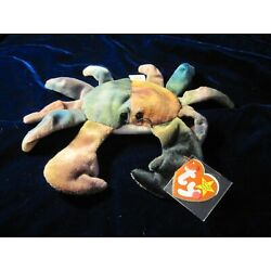 Rare 1996 New Old Stock Claude Beanie Baby - With Swing Tag Errors