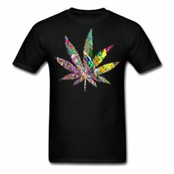 Cannabis Leaf Psychedelic Men's T-Shirt