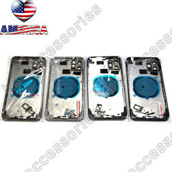 iPhone 8 Plus X XS Max XR 11 12 Pro Max Back Glass Housing Battery Cover Frame