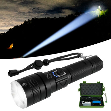 img-LED Tactical Flashlight Rechargeable Military Flashlight Zoomable 5 Modes IPX6