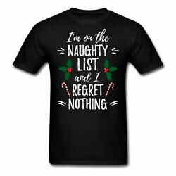 Funny Naughty List Quote Christmas Men's T-Shirt