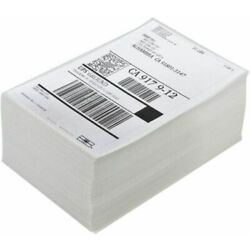 500 4x6 Fanfold Direct Thermal Shipping Labels for Zebra and Rollo Printers NEW