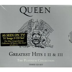 Queen Greatest Hits I II & III The Platinum Collection 3 CD Box Set Brand New