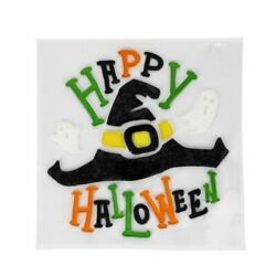 Happy Halloween with Witch hat Window Gel Cling Decor classroom party supply