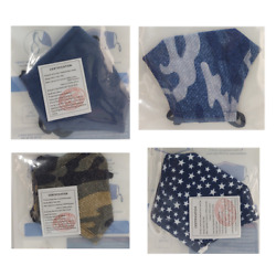 Bespoke 3 Layer Reuseable Youth Washable Face Mask - Choice 4 Patterns