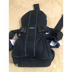 BABYBJORN  Baby Carrier One Black Soft Cotton Mix Front and Back Baby Carrier