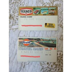 Vintage 1970s 1980s Gasoline Charge Credit Card Lot Gulf Texaco Travel Card