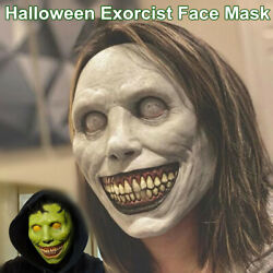 Exorcist Face Mask Horror Scary Demon Smile for Halloween Cosplay Party Costume