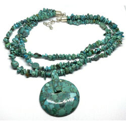 Desert Rose Trading Jay King DTR Sterling Silver 3 Strand Turquoise 20  Necklace