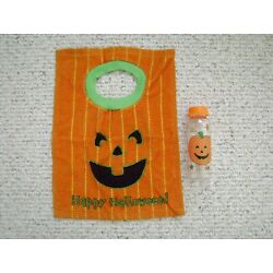 Halloween Baby Bib and a Vintage Bottle