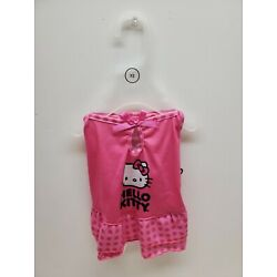 NWT--Hello Kitty Dress,Dog/Cat Outfit, Pink w/ Black Logo, Size: X-SMALL